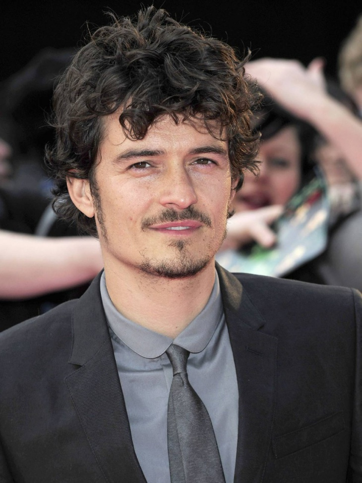 orlando bloom medium wavy hair