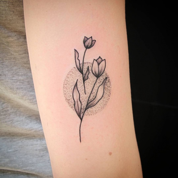 lovely black work tattoo