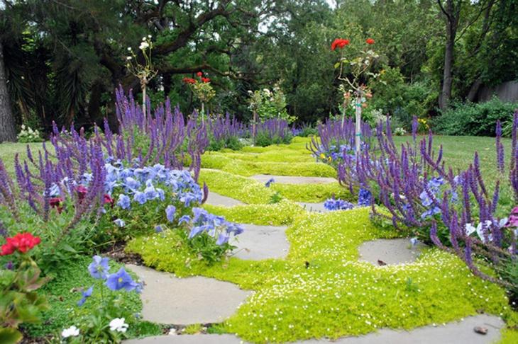 Eclectic Moss Landscape Garden