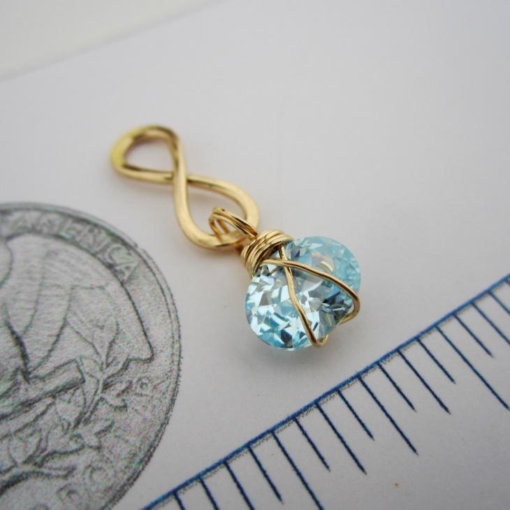 Aquamarine Topaz Pendant
