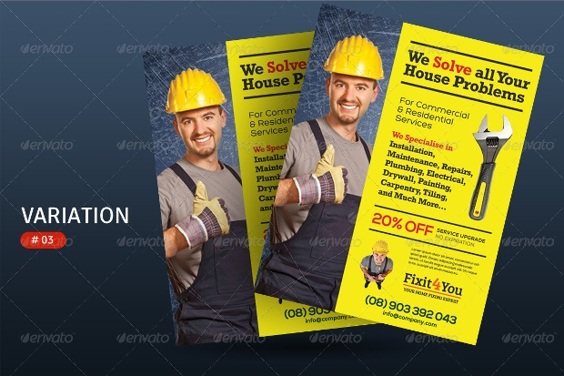 Customizable Handyman PSD Flyer
