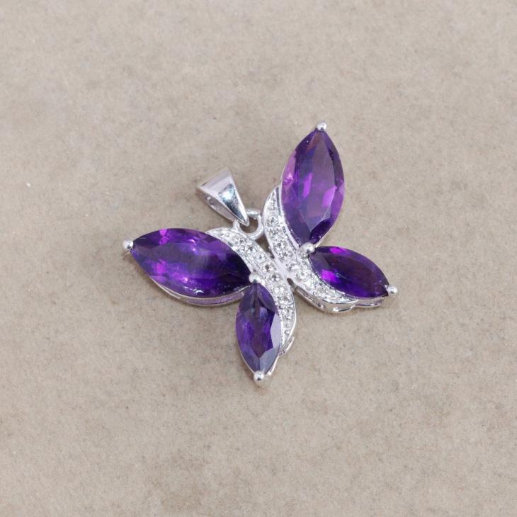 Topaz Butterfly Pendant