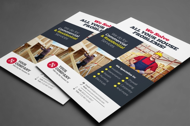 Colorful Handyman Flyer Design