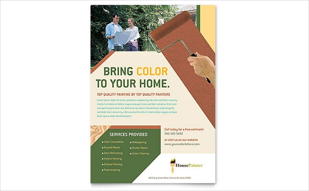 Painter and Painting Contractor Flyer