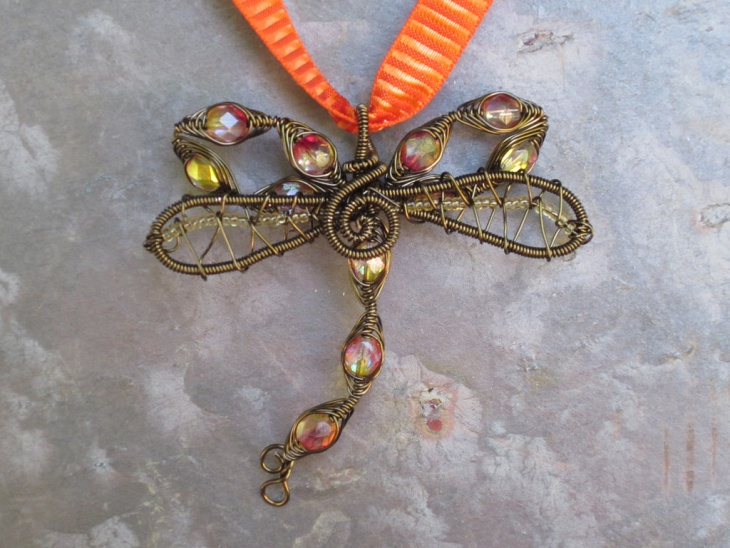 awesome antique dragonfly pendant