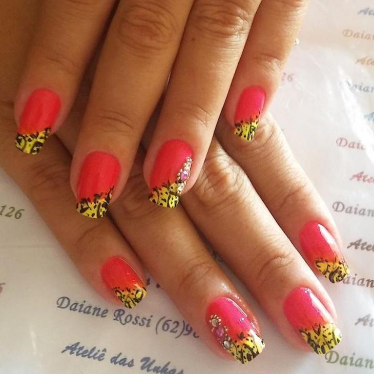 two toned nail art idea