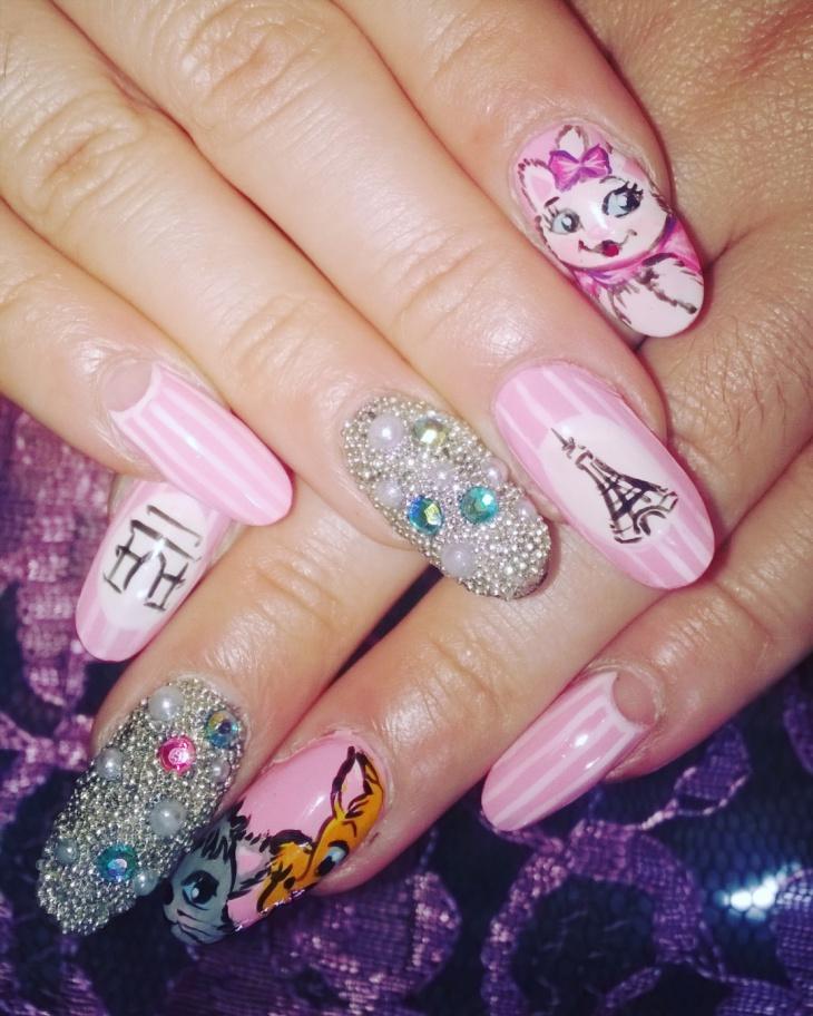 disney nail art design1