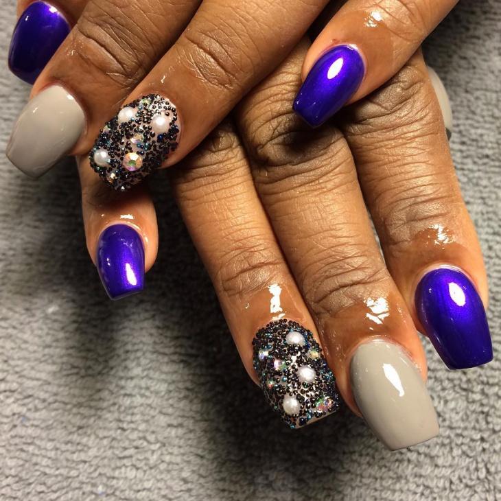 caviar nail art for wedding