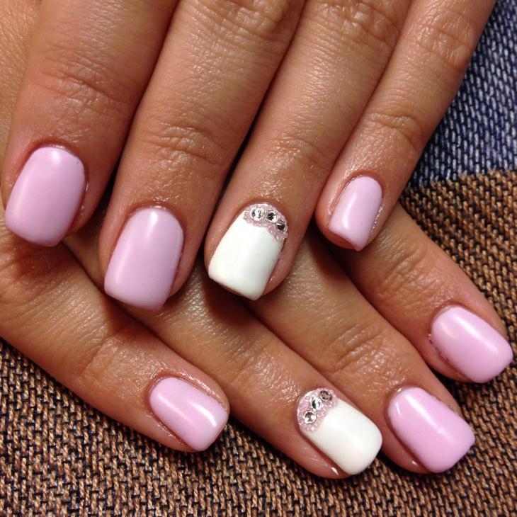 elegant crystal nail art design