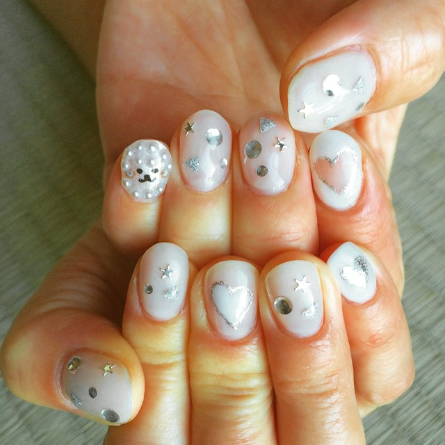 Glitter Sheep Nail Art