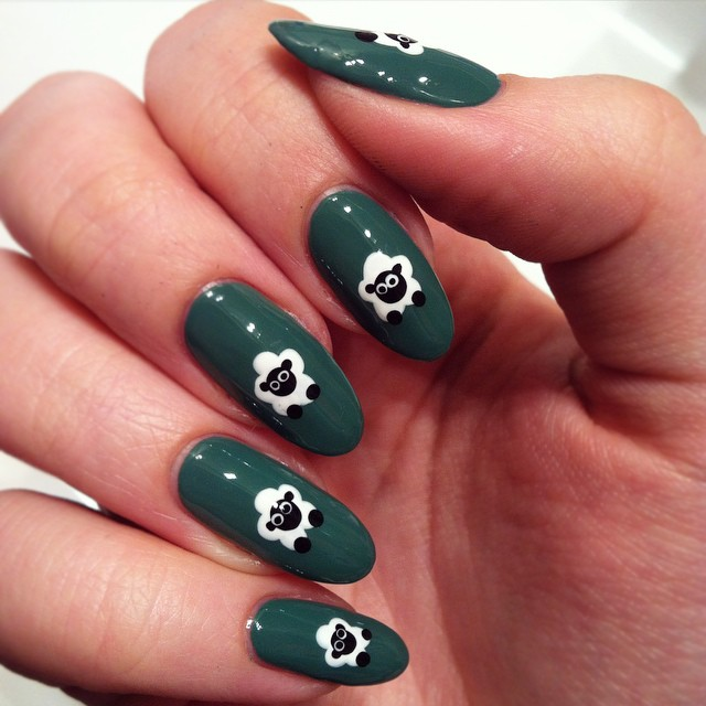Acrylic Sheep Nail Design