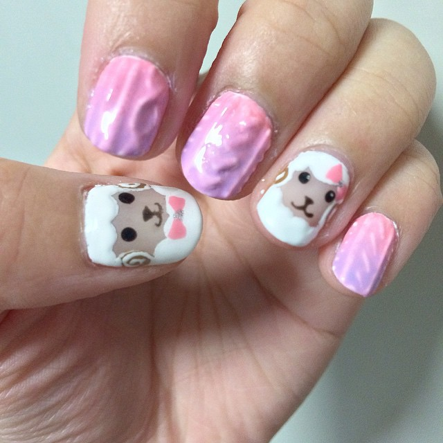 Sheep Knot Nail Art