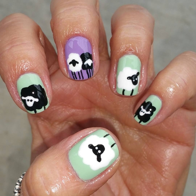 Gel Sheep Nail Art