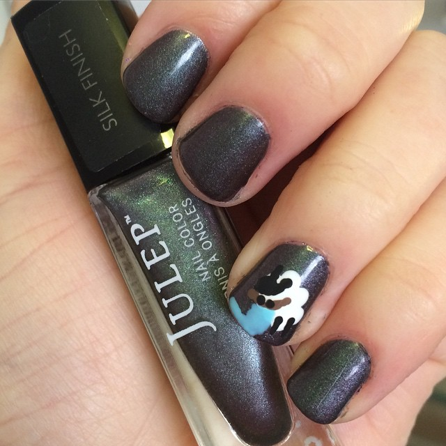 Gray Sheep Nail Design