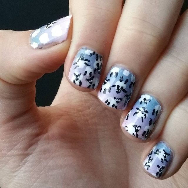 Simple Sheep Nail Art