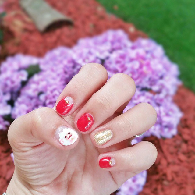 Awesome Sheep Nail Design