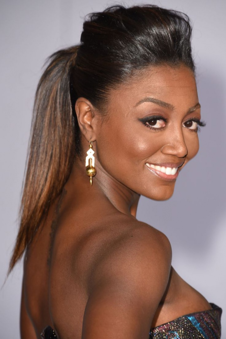 patina miller bump hairstyle with ponytail