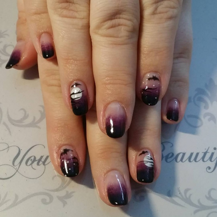 gel bat nail design idea