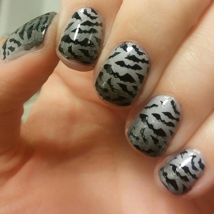 classy bat nail art