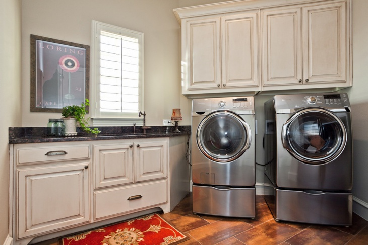 Laundry Closet Cabinet Idea