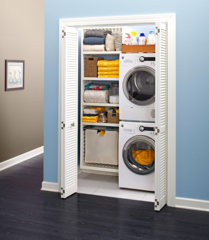 small laundry closet design