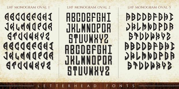 Monogram Letterhead Font