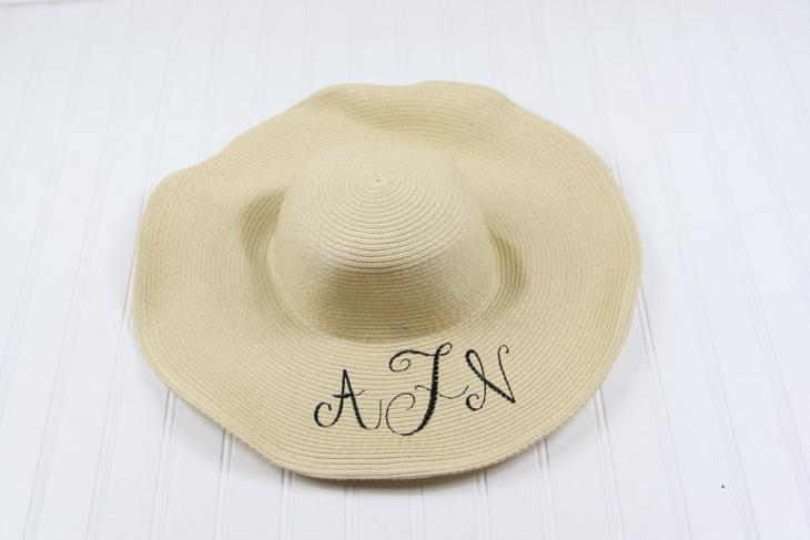 monogrammed derby hat