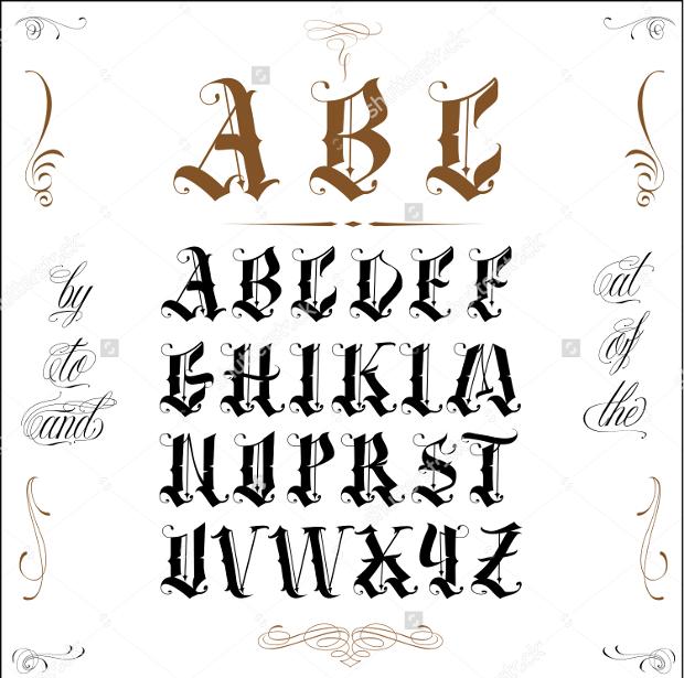 Block Letterhead Font