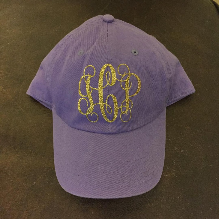 Purple Monogram Hat