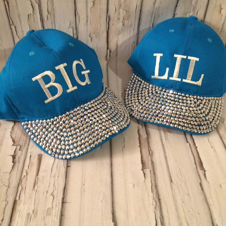 Rhinestone Monogram Hat Design