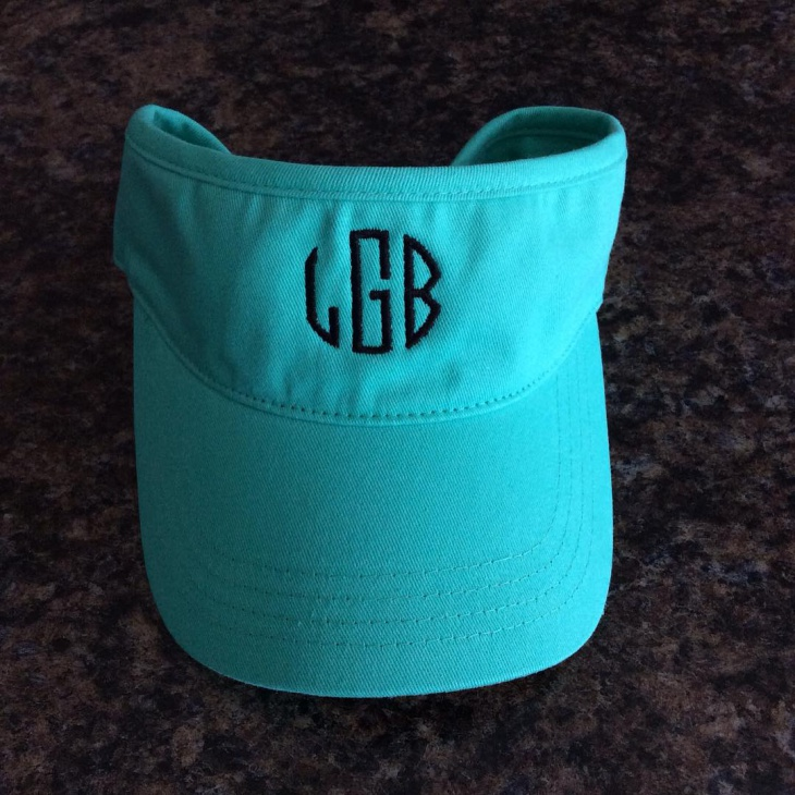 Monogram Summer Hat Idea