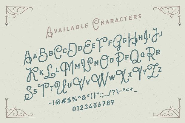 Letterhead Monogram Font