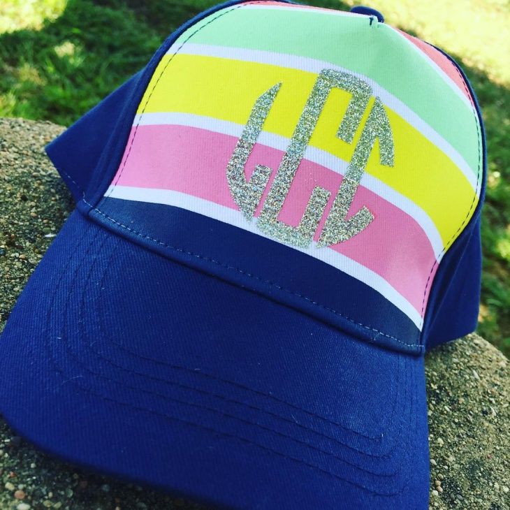 Colorful Monogrammed Hat Idea