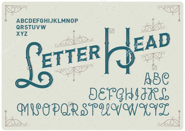Professional Letterhead Font