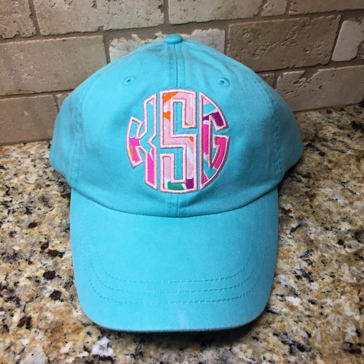 Blue Monogram Hat