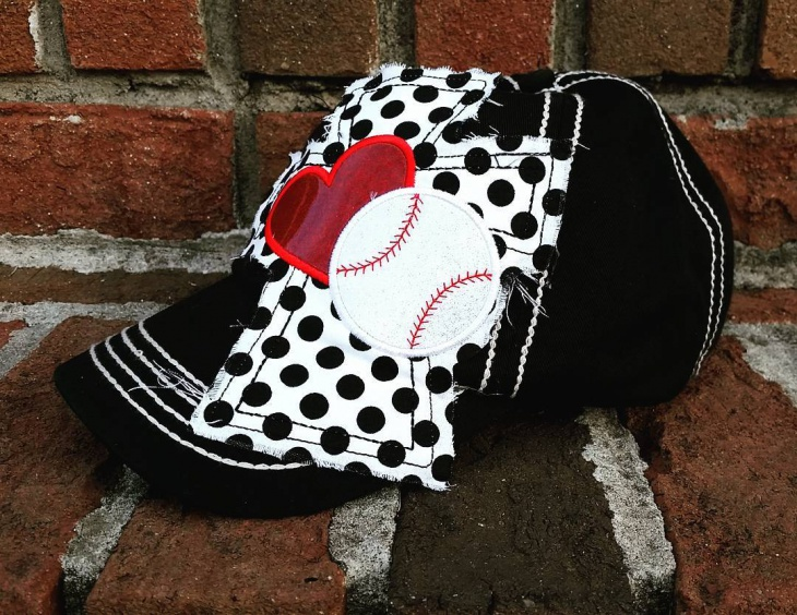Black and White Monogram Hat