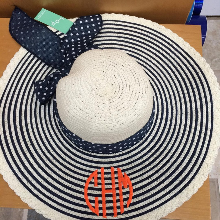 Cute Monogrammed Floppy Hat