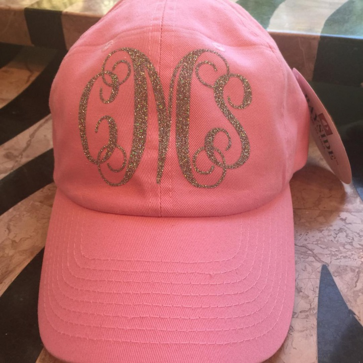Lovely Pink Monogram Hat