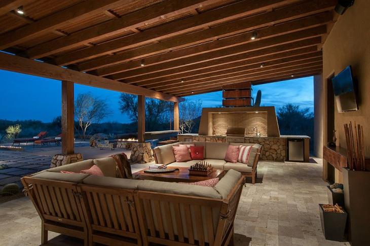recessed outdoor ceiling light