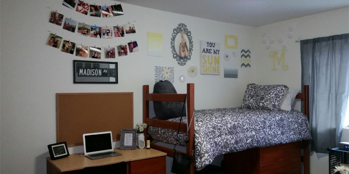 make sure your dorm room reminds you of your goal