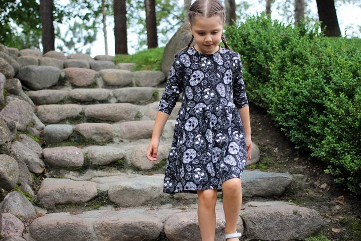 Skull Dress Design for Kids