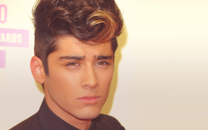 zayn malik curly blowout fade haircut
