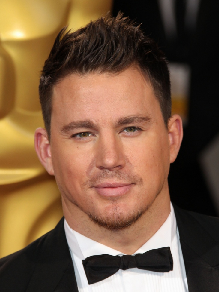 channing tatum short blowout fade hairstyle