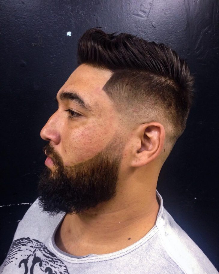 Blowout Fade with Beard