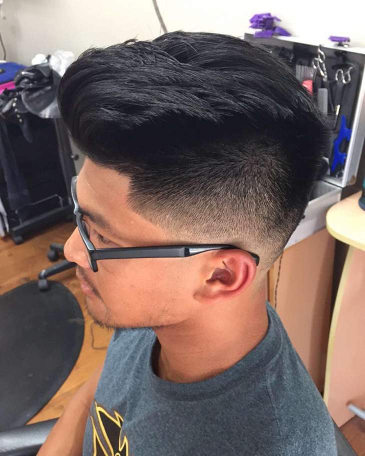 blowout fade for thick hair