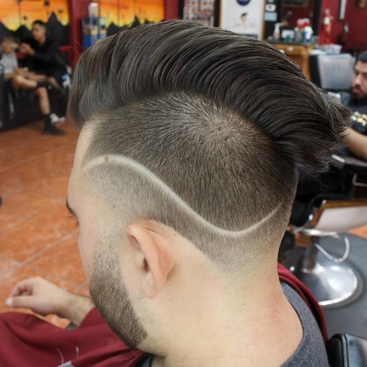 clean blowout fade haircut