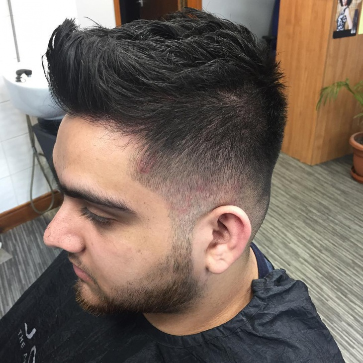 simple blowout fade haircut