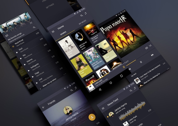 Android Music App UI Design