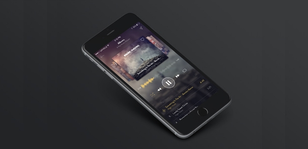 iPhone 6 PSD Music App Design