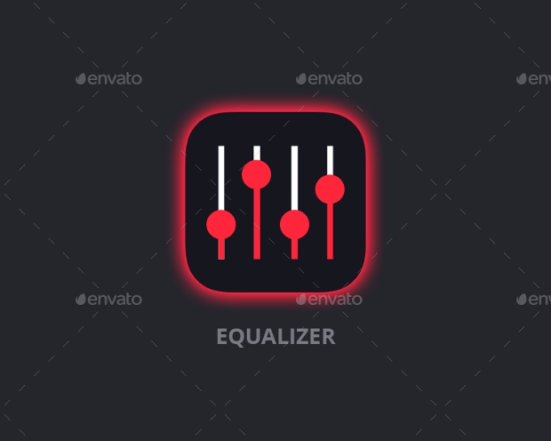 Equalizer Music App UI Kit PSD